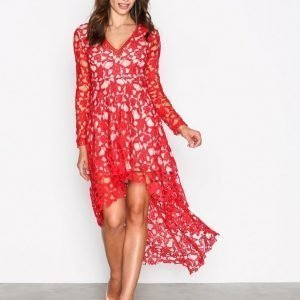 Love Triangle Opulent Dress Kotelomekko Red