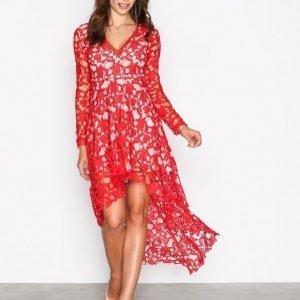 Love Triangle Opulent Dress Kotelomekko Red