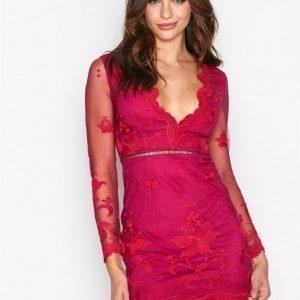 Love Triangle Silent Night Mini Dress Kotelomekko Raspberry