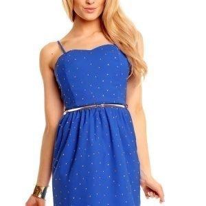 LucyCo sininen mekko vyöllä