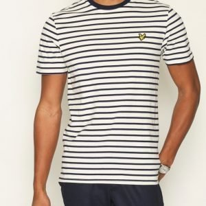 Lyle & Scott Breton Stripe T-shirt T-paita Offwhite