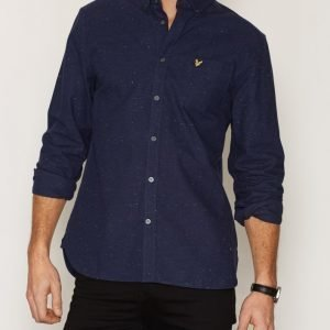 Lyle & Scott Brushed Fleck Shirt Kauluspaita Navy