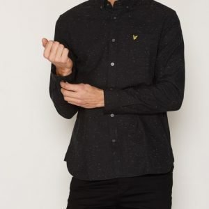 Lyle & Scott Brushed Fleck Shirt Kauluspaita True Black