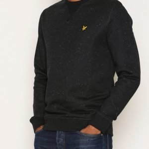 Lyle & Scott Brushed Flecked Crew Neck Pusero True Black