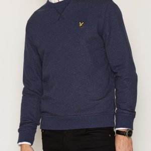 Lyle & Scott Brushed Flecked Crew Neck Sweatshirt Pusero Navy