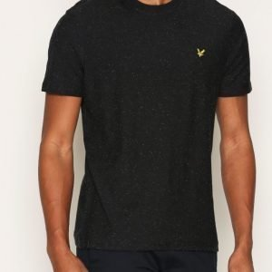 Lyle & Scott Brushed Flecked T-shirt T-paita Musta