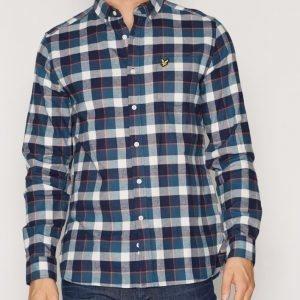 Lyle & Scott Check Flannel Shirt Kauluspaita Offwhite