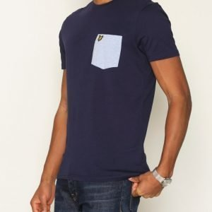 Lyle & Scott Contrast Pocket T-shirt T-paita Navy