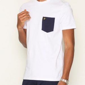 Lyle & Scott Contrast Pocket T-shirt T-paita White