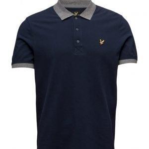 Lyle & Scott Contrast Rib Polo Shirt lyhythihainen pikeepaita