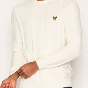 Lyle & Scott Crew Neck Cable Jumper Pusero Offwhite