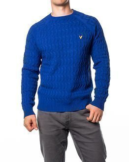 Lyle & Scott Crew Neck Cable Jumper Shallow End