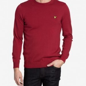 Lyle & Scott Crew Neck Cotton Merino 12gg Jumper Pusero Ruby