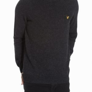 Lyle & Scott Crew Neck Lambswool 7GG Jumper Pusero Charcoal