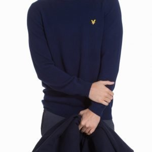 Lyle & Scott Crew Neck Lambswool 7GG Jumper Pusero Navy