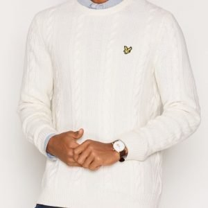 Lyle & Scott Crew Neck Lambswool Cable 5GG Jumper Pusero Ivory