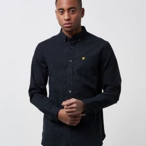Lyle & Scott Flecked Shirt 572 True Black