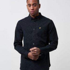 Lyle & Scott Flecked Shirt 572 True Black
