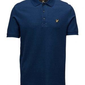 Lyle & Scott Grid Texture Polo Shirt lyhythihainen pikeepaita