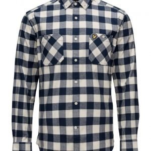 Lyle & Scott Herringbone Check Flannel Over Shirt