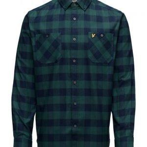 Lyle & Scott Herringbone Check Flannel Over Shirt
