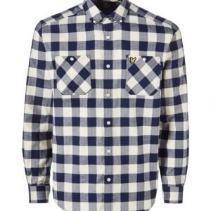 Lyle & Scott Herringbone Check Flannel Paita
