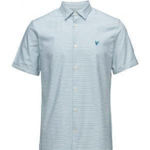 Lyle & Scott Horizontal Stripe Oxford Shirt lyhythihainen paita