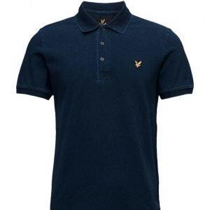 Lyle & Scott Indigo Pique Polo Shirt lyhythihainen pikeepaita