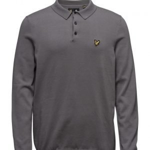 Lyle & Scott Ls Mercerised Cotton Knitted Polo pitkähihainen pikeepaita