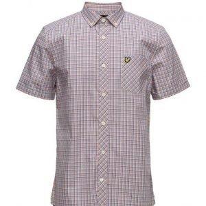 Lyle & Scott Micro Check Shirt lyhythihainen paita