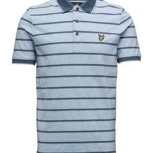 Lyle & Scott Multi-Coloured Birdseye Stripe Polo Shirt lyhythihainen pikeepaita