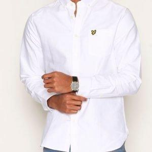Lyle & Scott Oxford Shirt Kauluspaita White