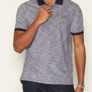 Lyle & Scott Oxford Slub Polo Shirt Pikeepaita Navy