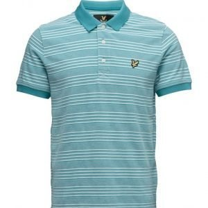 Lyle & Scott Oxford Stripe Polo Shirt lyhythihainen pikeepaita