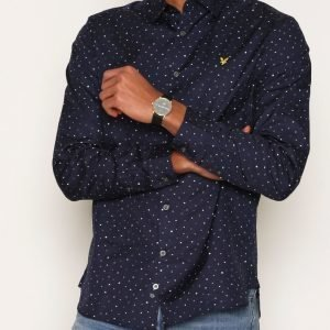 Lyle & Scott Paint Dot Print Shirt Kauluspaita Navy