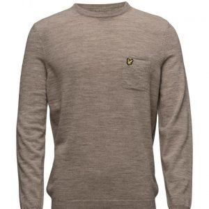 Lyle & Scott Pocket Detail Crew Neck 12gg Jumper pyöreäaukkoinen neule