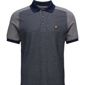 Lyle & Scott Reverse Birdseye Saddle Shoulder Polo Shirt lyhythihainen pikeepaita