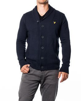 Lyle & Scott Shawl Collar Cardigan New Navy