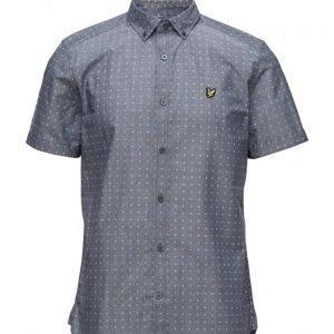 Lyle & Scott Square Dot Print Shirt lyhythihainen paita