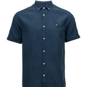 Lyle & Scott Ss Indigo Oxford Shirt lyhythihainen paita