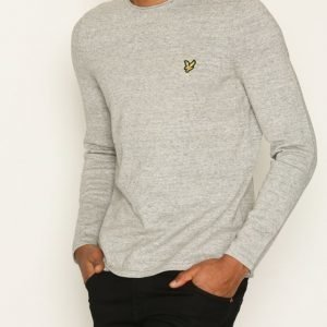 Lyle & Scott Unfinished Rolled Neck Jumper Pusero Grey Melange