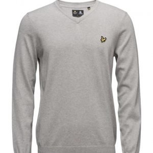 Lyle & Scott V Neck Cotton Merino Jumper v-aukkoinen neule