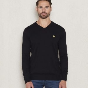 Lyle & Scott V - Neck Merino 572 True Black