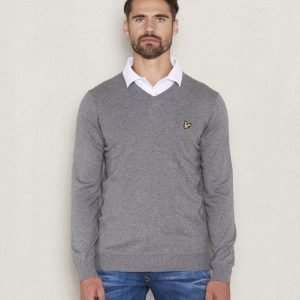 Lyle & Scott V - Neck Merino T28 Mid Grey