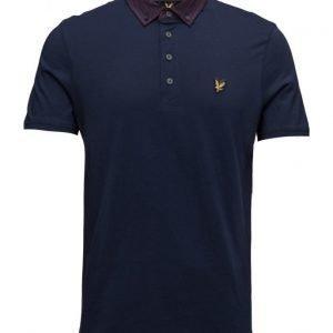 Lyle & Scott Woven Collar Jersey Polo Shirt lyhythihainen pikeepaita