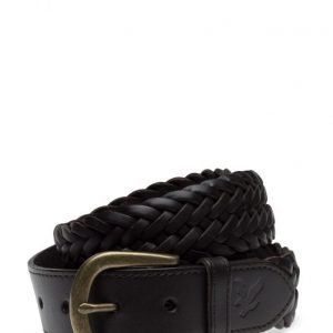 Lyle & Scott Woven Leather Belt vyö