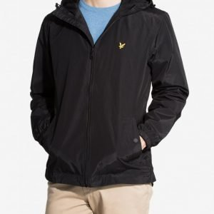 Lyle & Scott Zip Through Hooded Jacket Takki True Black