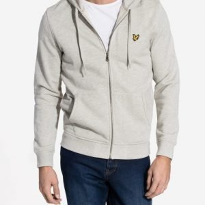 Lyle & Scott Zip Through Hoodie Pusero Light Grey
