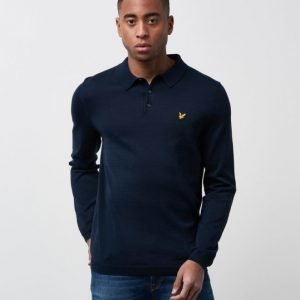Lyle & Scott Cotton Knited Polo Z99 Navy