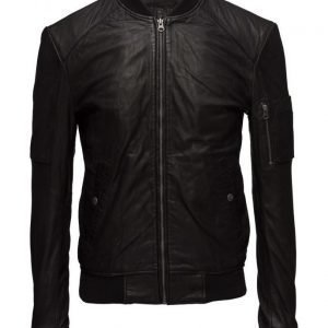 MDK / Munderingskompagniet Combi Leather Jacket (Black) nahkatakki